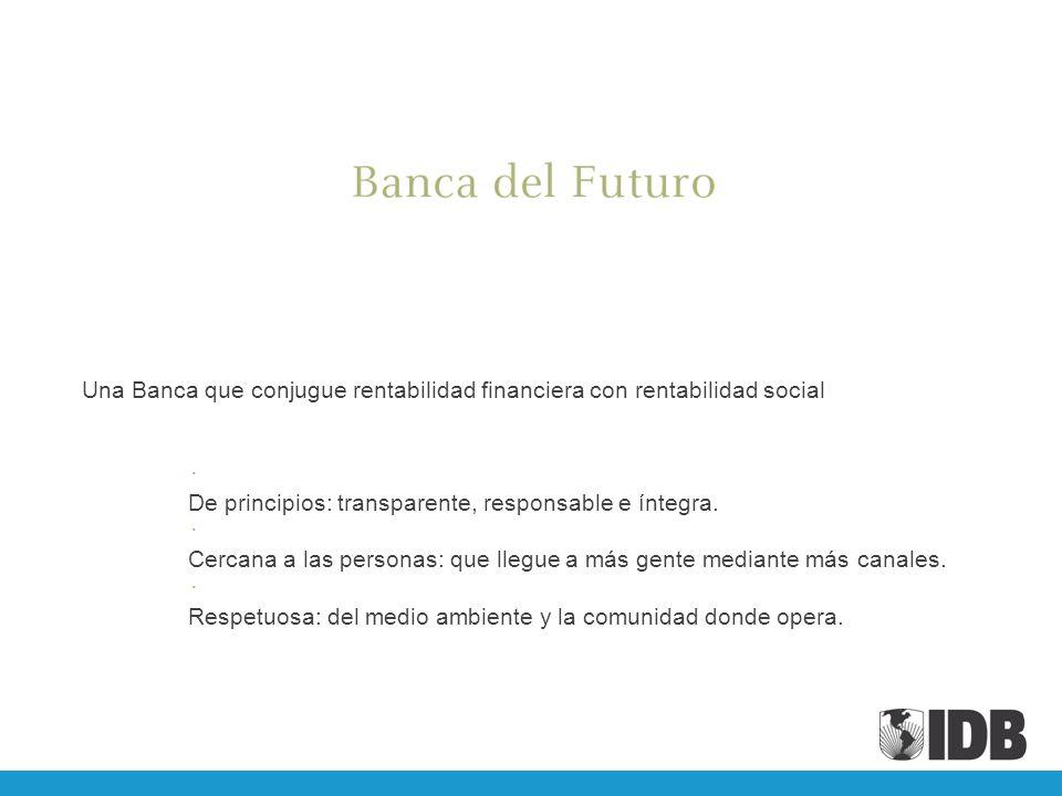 Una Banca que conjugue rentabilidad financiera con rentabilidad social