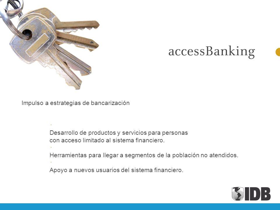 Impulso a estrategias de bancarización
