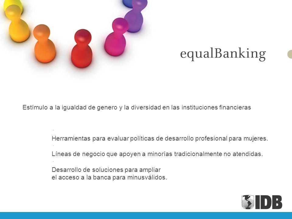 Estímulo a la igualdad de genero y la diversidad en las instituciones financieras