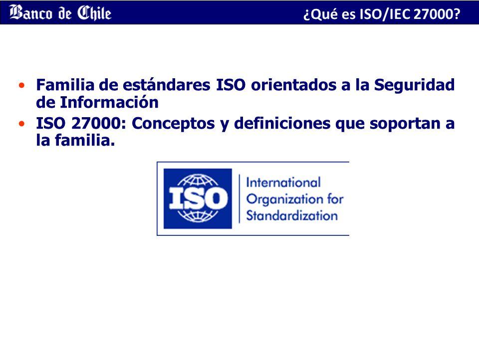 ¿Qué es ISO/IEC 27000 Familia de estándares ISO orientados a la Seguridad de Información.