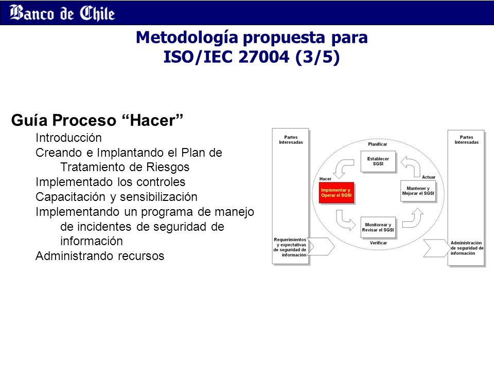 Metodología propuesta para ISO/IEC 27004 (3/5)