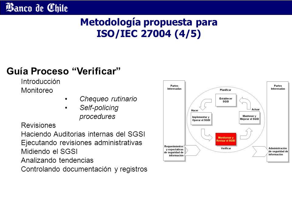 Metodología propuesta para ISO/IEC 27004 (4/5)