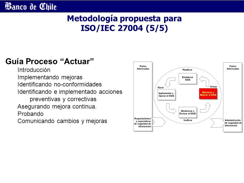 Metodología propuesta para ISO/IEC 27004 (5/5)