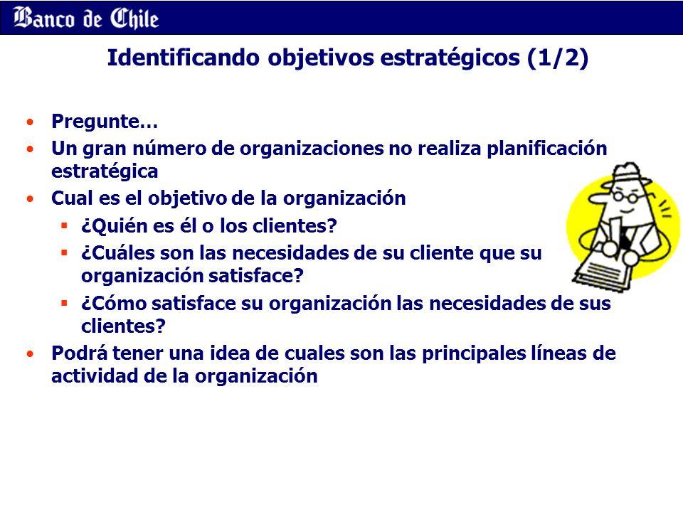 Identificando objetivos estratégicos (1/2)