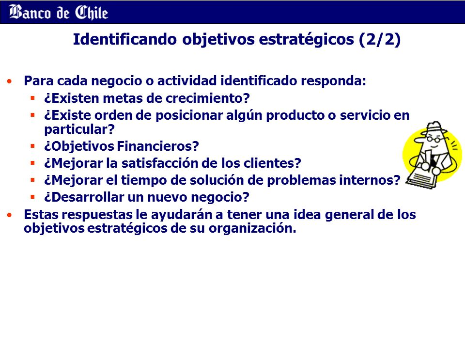 Identificando objetivos estratégicos (2/2)