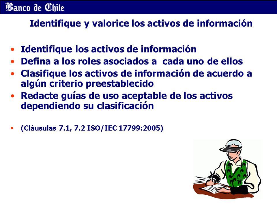Identifique y valorice los activos de información