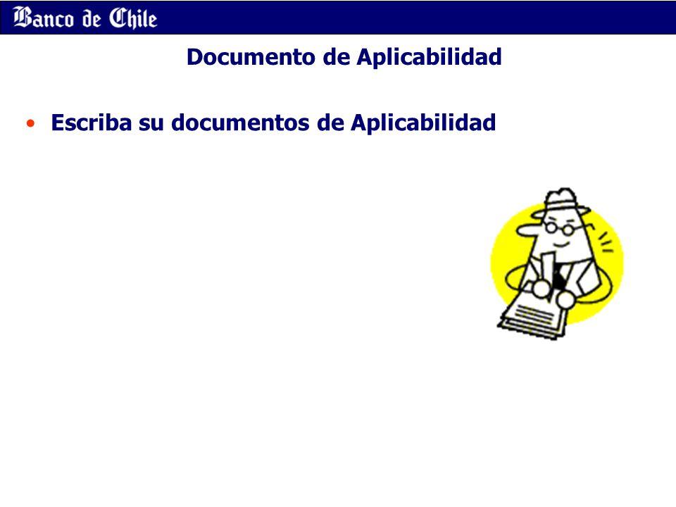 Documento de Aplicabilidad