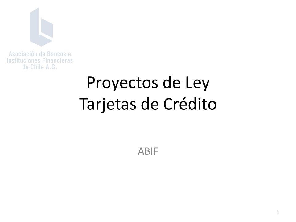 Proyectos de Ley Tarjetas de Crédito