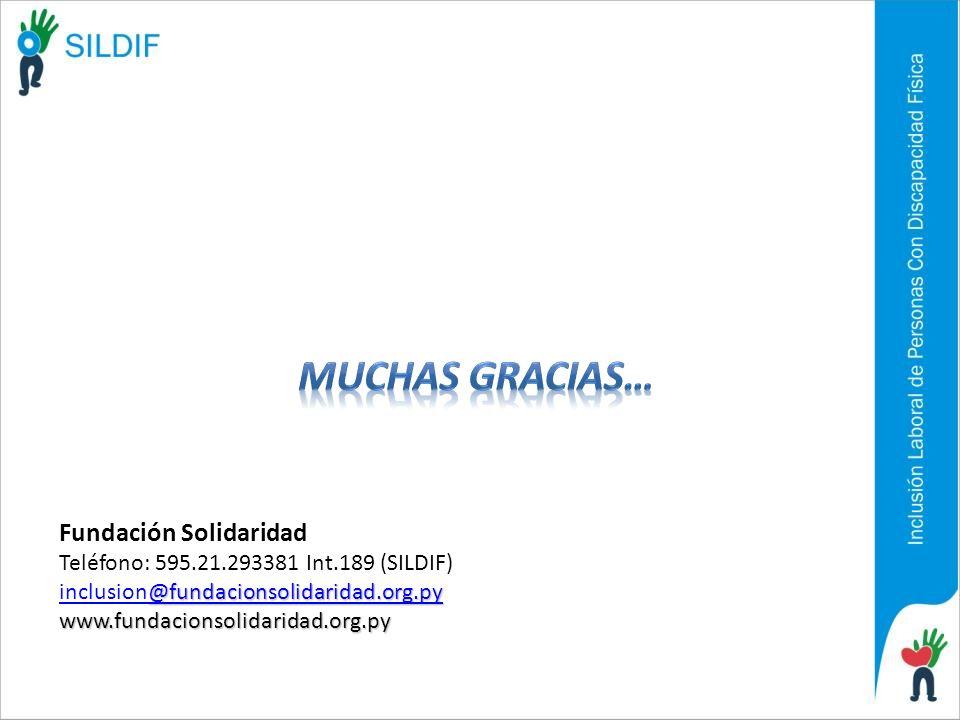 MUCHAS GRACIAS… Fundación Solidaridad