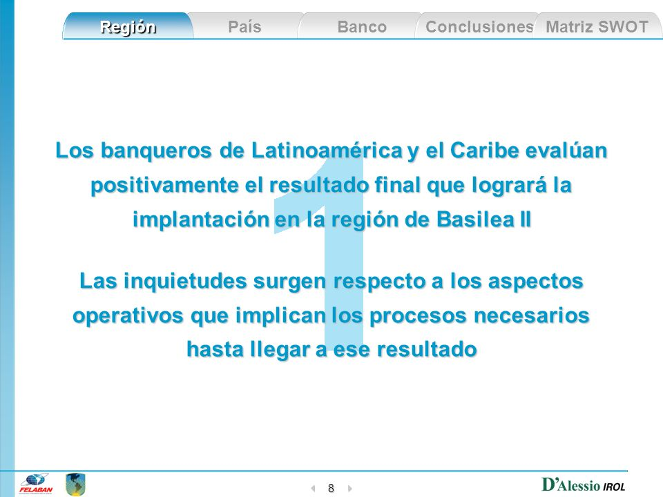 Los banqueros de Latinoamérica y el Caribe evalúan positivamente el resultado final que logrará la implantación en la región de Basilea II