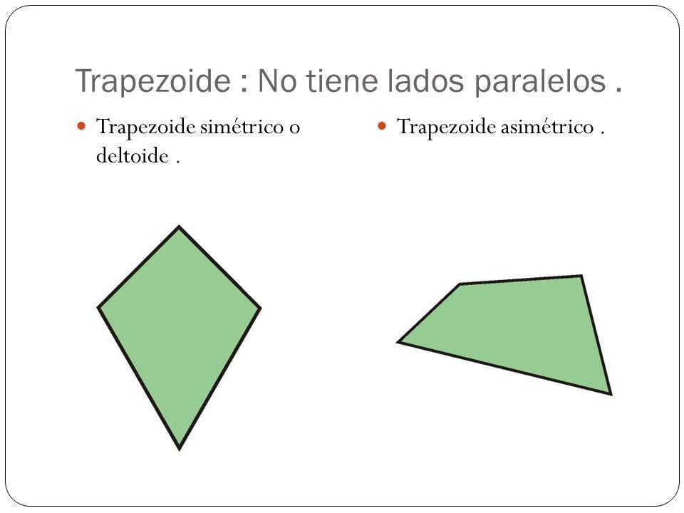 Trapezoide : No tiene lados paralelos .