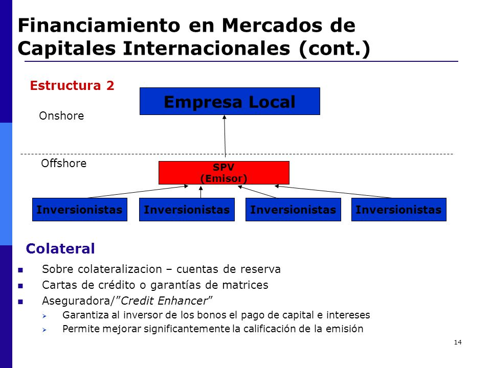 Financiamiento en Mercados de Capitales Internacionales (cont.)
