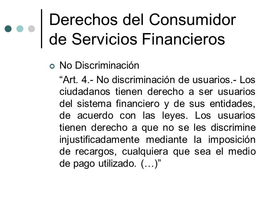 Derechos del Consumidor de Servicios Financieros