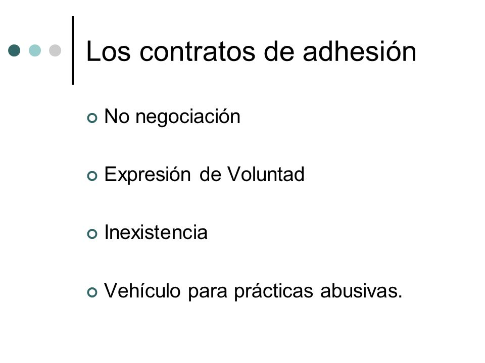 Los contratos de adhesión