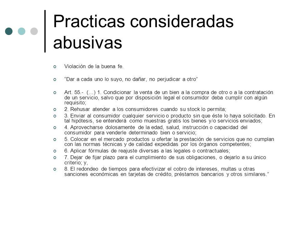 Practicas consideradas abusivas