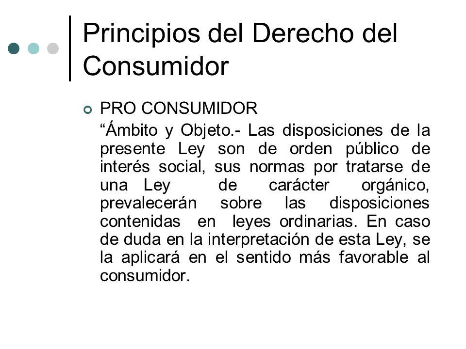 Principios del Derecho del Consumidor