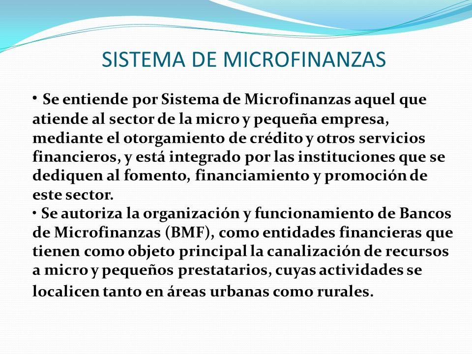 SISTEMA DE MICROFINANZAS