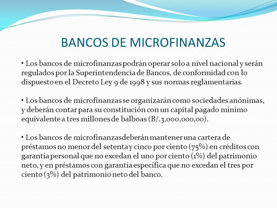BANCOS DE MICROFINANZAS