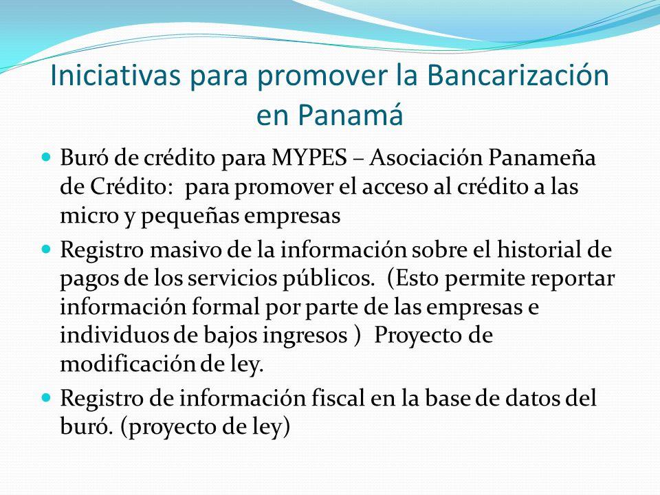 Iniciativas para promover la Bancarización en Panamá