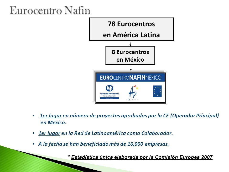 Eurocentro Nafin 78 Eurocentros en América Latina
