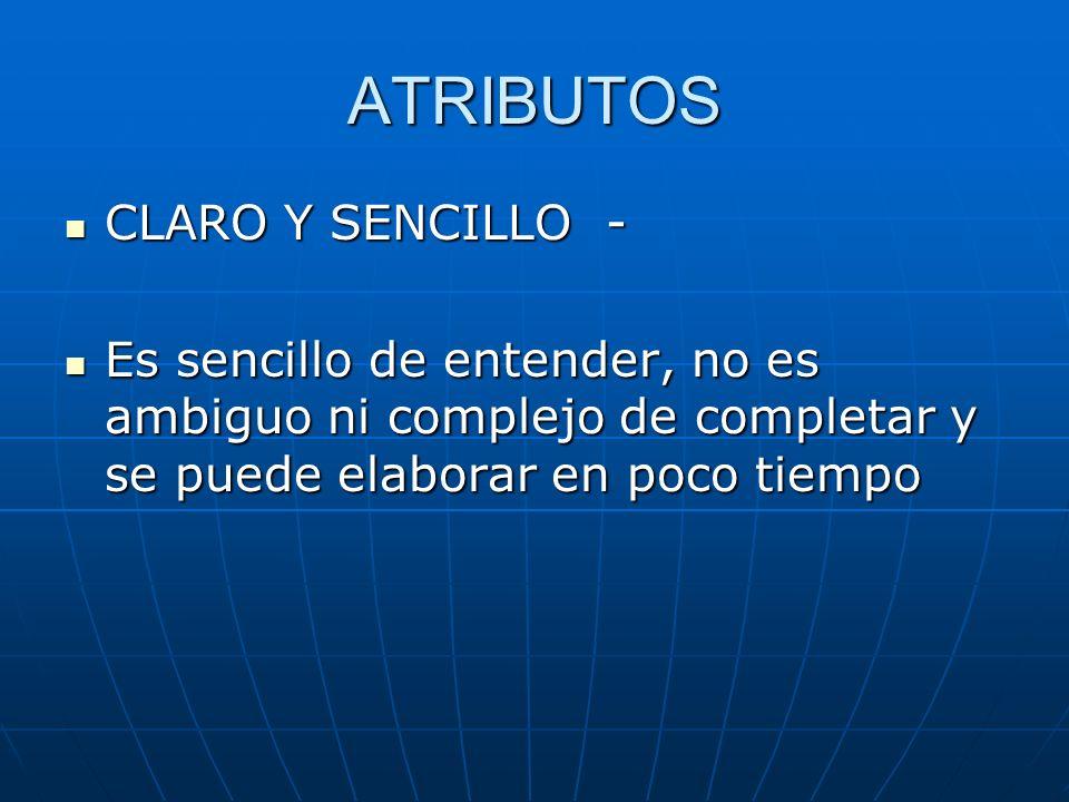 ATRIBUTOS CLARO Y SENCILLO -