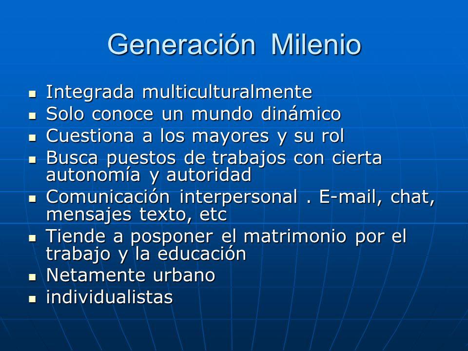 Generación Milenio Integrada multiculturalmente