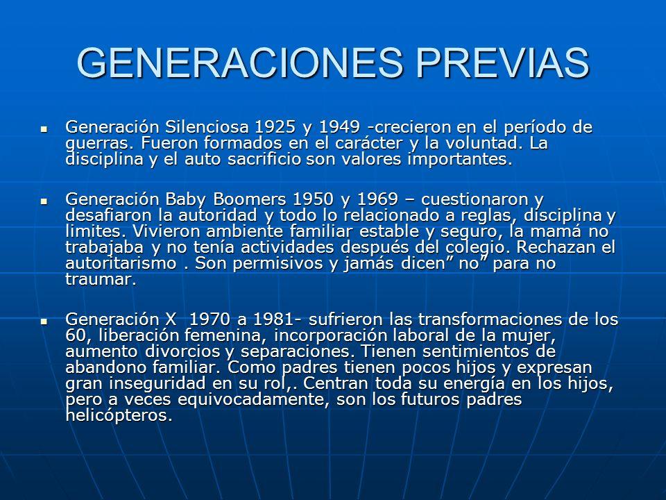 GENERACIONES PREVIAS