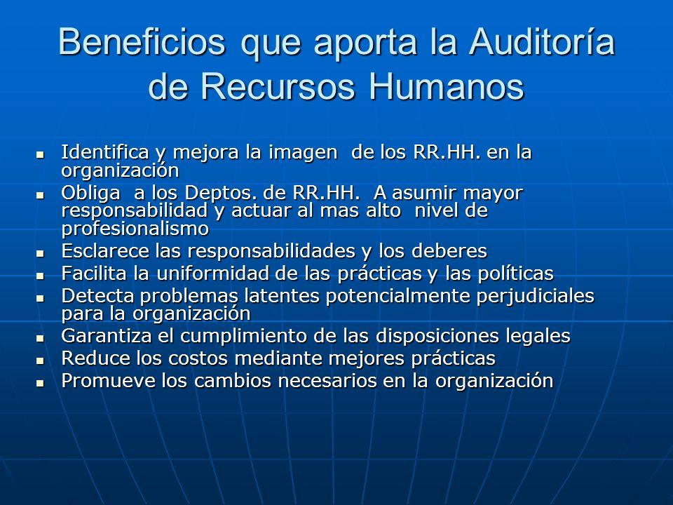 Beneficios que aporta la Auditoría de Recursos Humanos