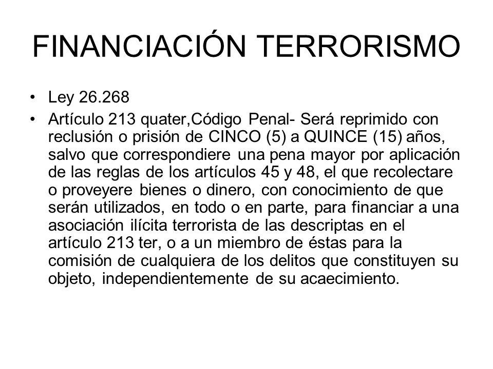 FINANCIACIÓN TERRORISMO