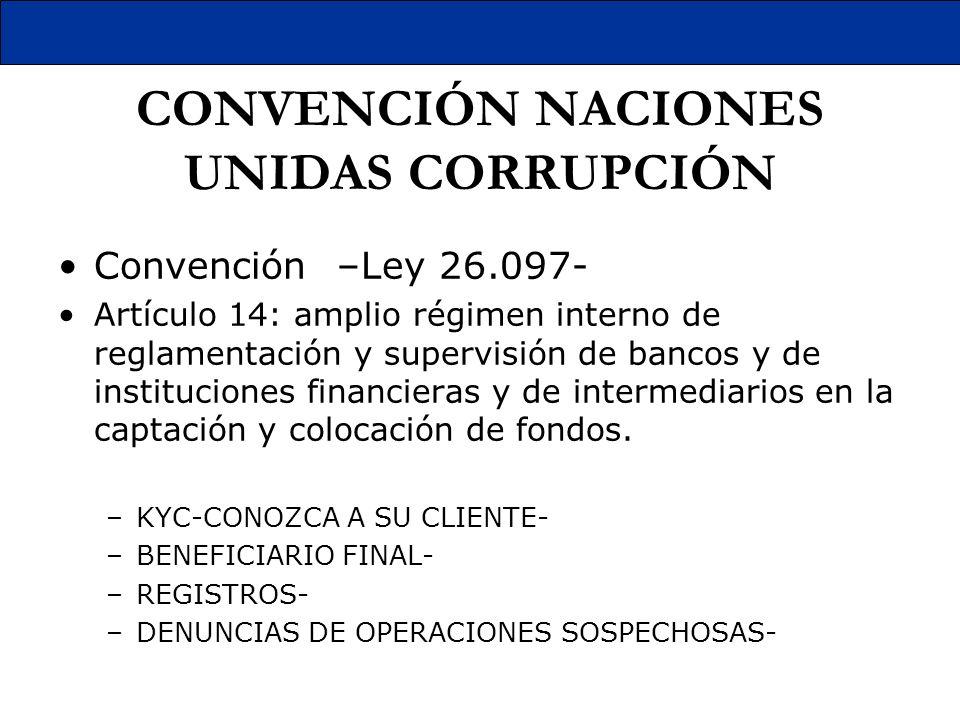 CONVENCIÓN NACIONES UNIDAS CORRUPCIÓN