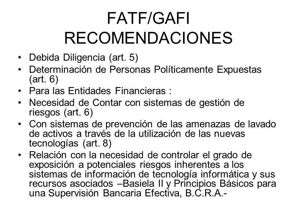 FATF/GAFI RECOMENDACIONES