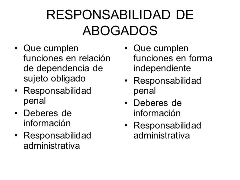 RESPONSABILIDAD DE ABOGADOS