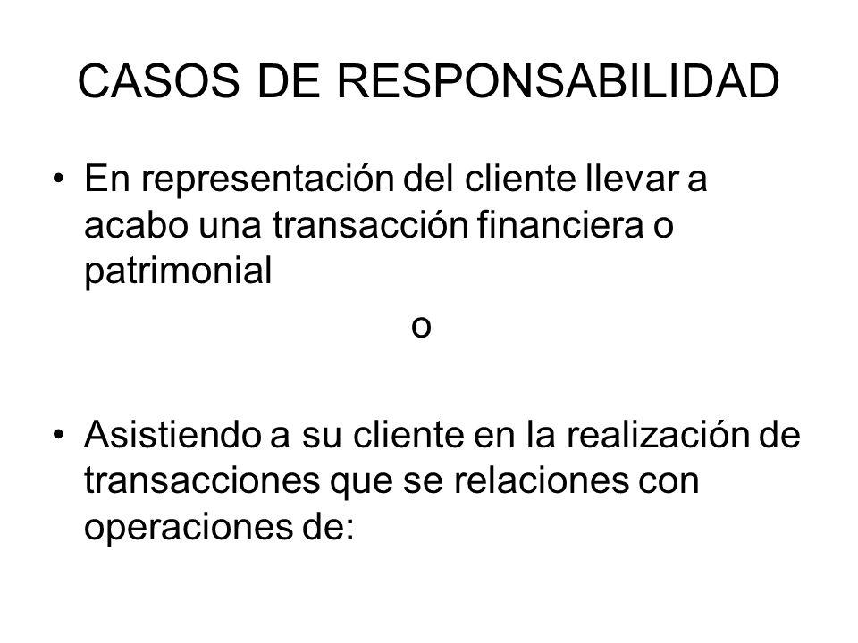 CASOS DE RESPONSABILIDAD
