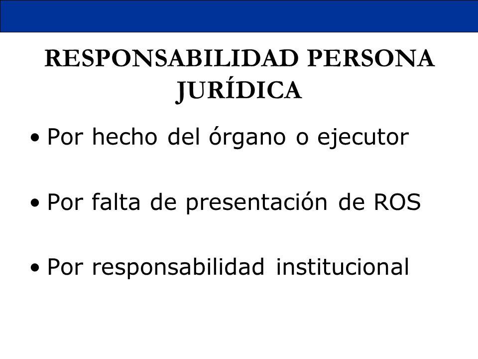 RESPONSABILIDAD PERSONA JURÍDICA