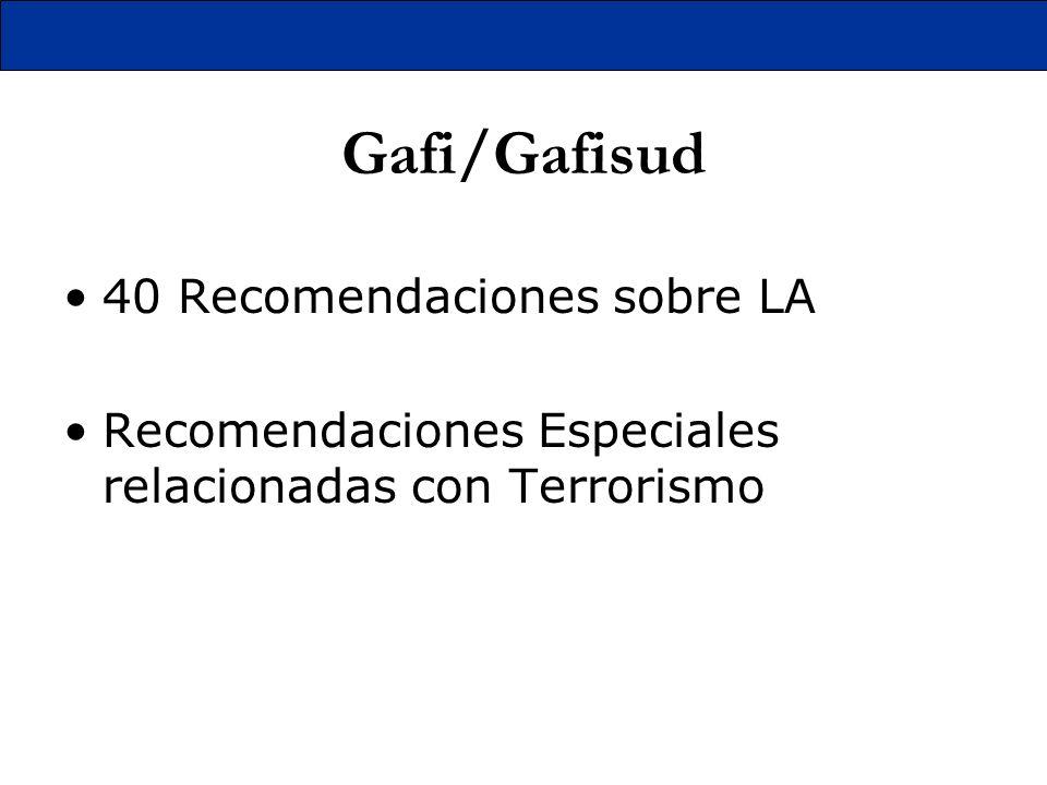 Gafi/Gafisud 40 Recomendaciones sobre LA