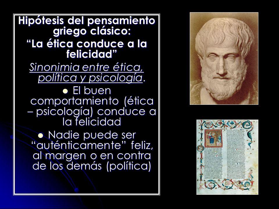 Hipótesis del pensamiento griego clásico: