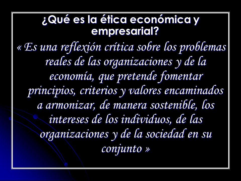 ¿Qué es la ética económica y empresarial