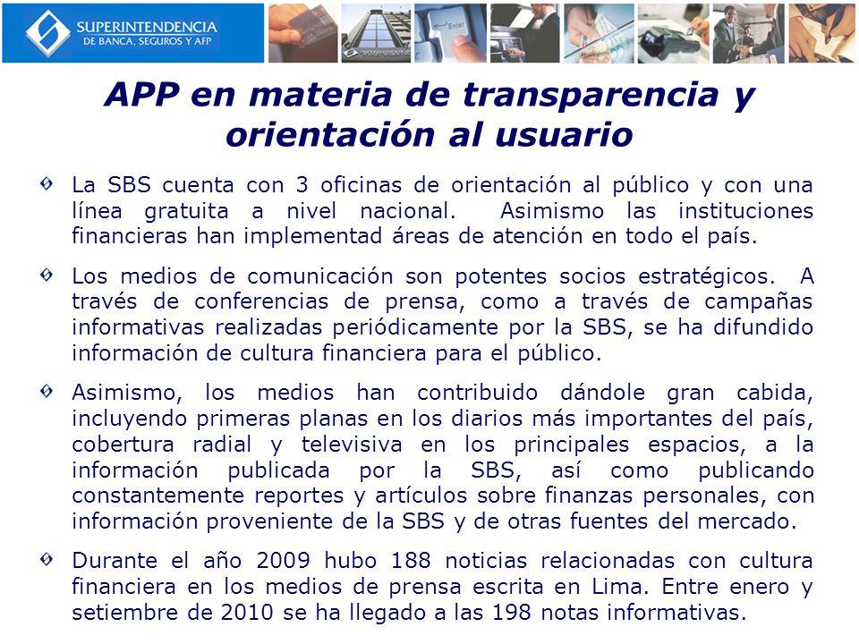 APP en materia de transparencia y orientación al usuario