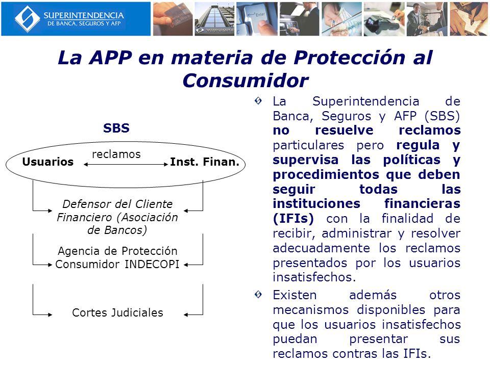 La APP en materia de Protección al Consumidor