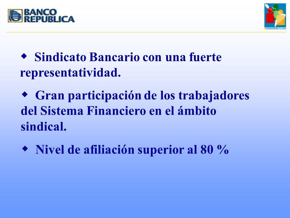 Sindicato Bancario con una fuerte representatividad.