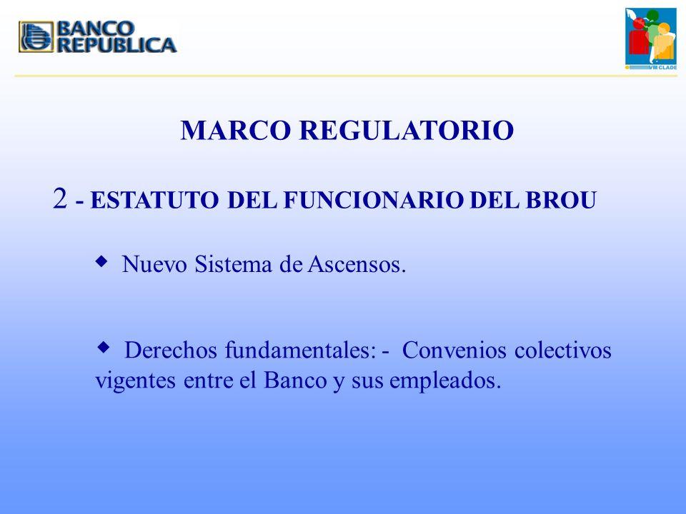 - ESTATUTO DEL FUNCIONARIO DEL BROU