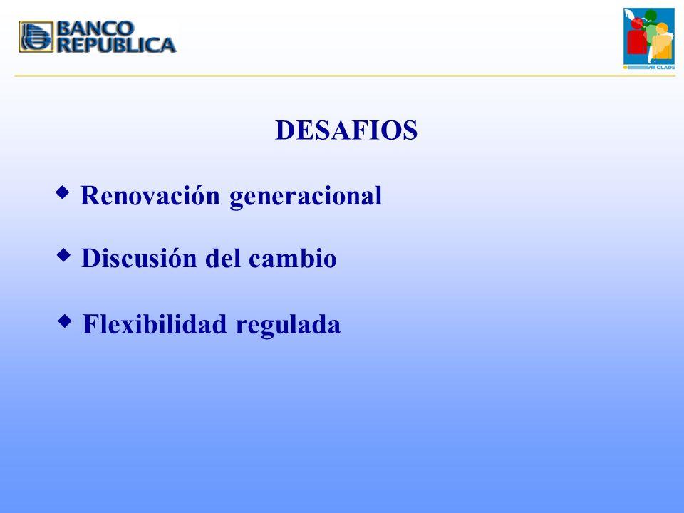 DESAFIOS Renovación generacional Discusión del cambio