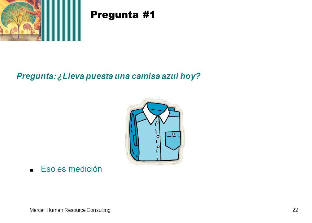 Pregunta #1 Pregunta: ¿Lleva puesta una camisa azul hoy