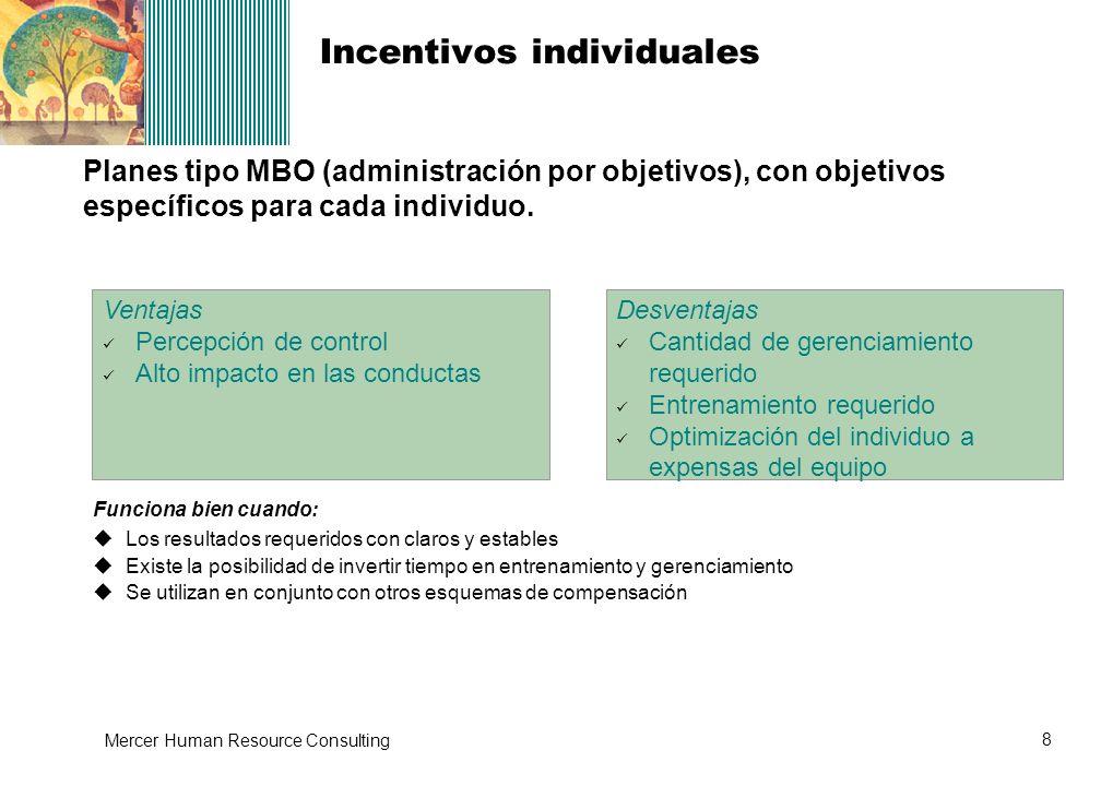 Incentivos individuales