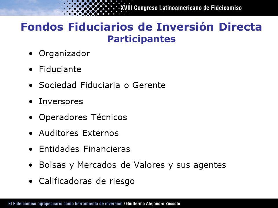 Fondos Fiduciarios de Inversión Directa Participantes