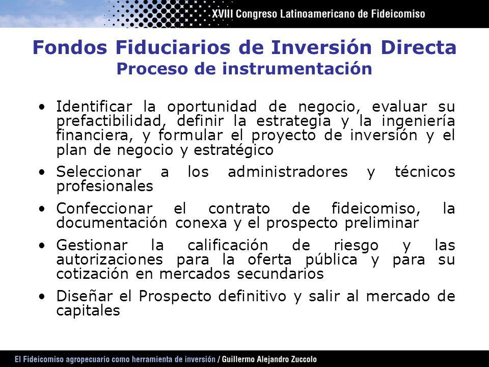 Fondos Fiduciarios de Inversión Directa Proceso de instrumentación