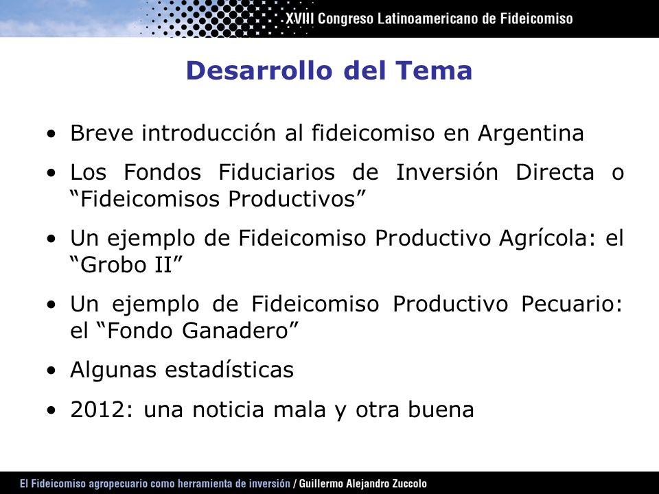 Desarrollo del Tema Breve introducción al fideicomiso en Argentina