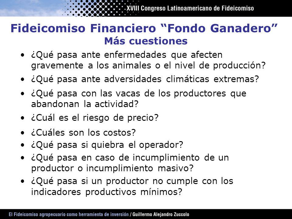 Fideicomiso Financiero Fondo Ganadero Más cuestiones