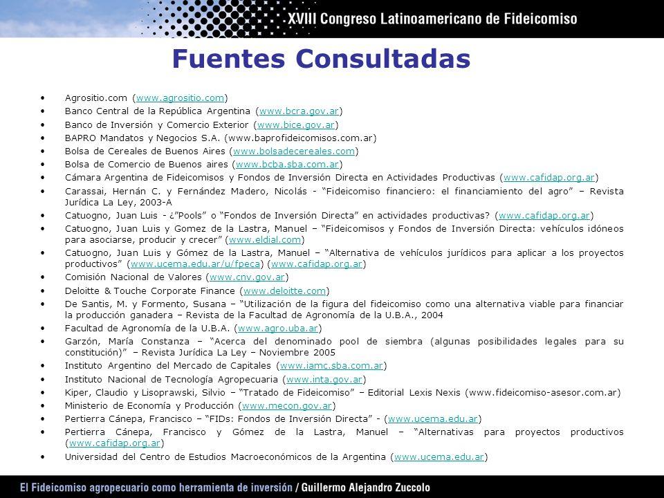 Fuentes Consultadas Agrositio.com (www.agrositio.com)
