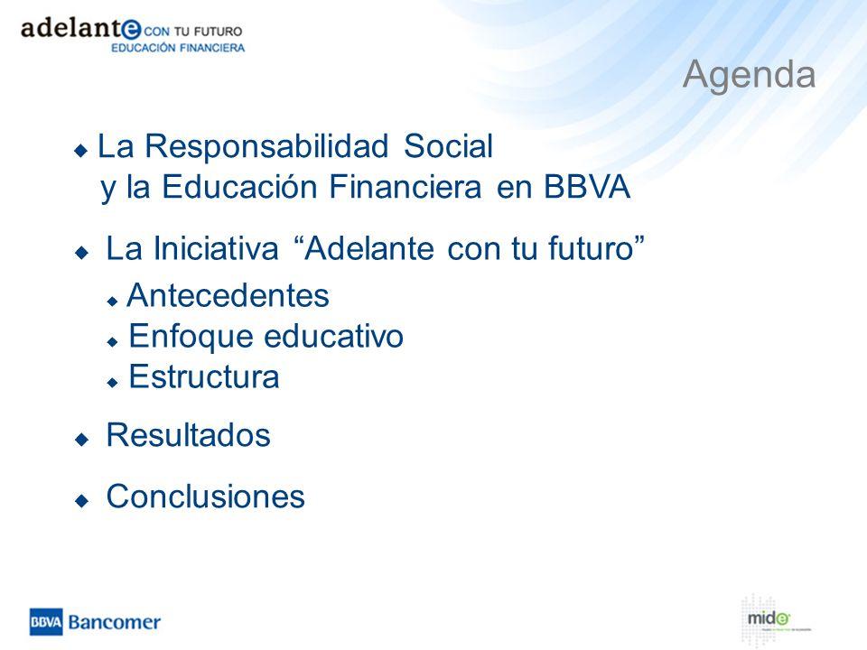 Agenda La Responsabilidad Social y la Educación Financiera en BBVA